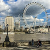 View of the London Eye from the Victoria Embankment.