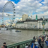 View of the London Eye from Westminster Bridge.