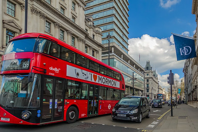 London traffic, and the quintessential double-decker bus!  Route 159 runs from Streatham Station to Marble Arch Station.