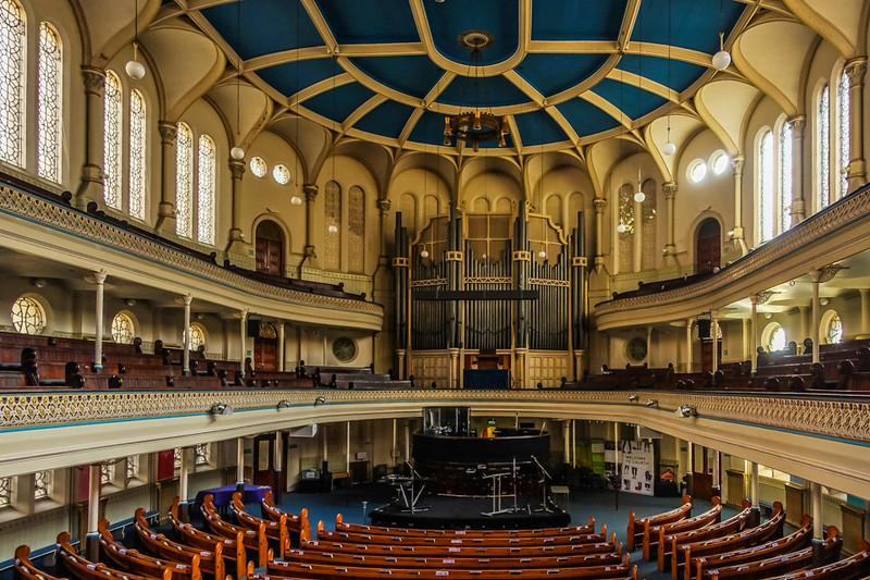 Inside of Westminster Chapel.