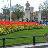 One of the many flower beds surrounding the Queen Victoria Memorial.