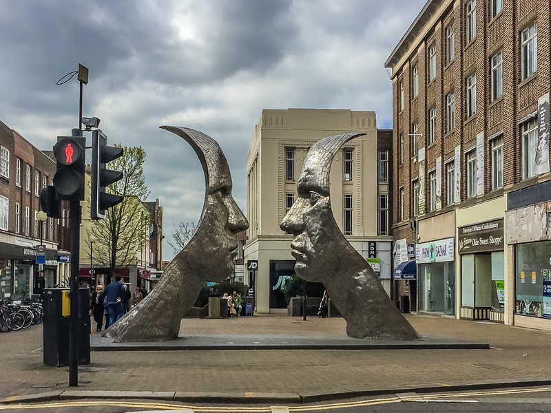 """I guess art is in the eye of the beholder, and there are a lot of beholders in Bedford who don't consider this art. LoL<br /> <br /> """"Rick Kirby's £100,000 commissioned sculpture of two Silver Faces in Silver Street, Bedford was voted the town's worst eyesore by Bedfordshire on Sunday readers.""""<br /> Read more at <a href=""""http://www.bedfordshire-news.co.uk/faces-eyesoresuffers-surroundings-says-sculptor/story-21719913-detail/story.html"""">http://www.bedfordshire-news.co.uk/faces-eyesoresuffers-surroundings-says-sculptor/story-21719913-detail/story.html</a>"""