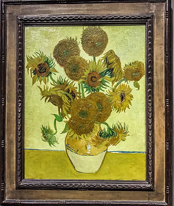 "Van Gogh's ""Vase with fifteen sunflowers"" is prominently featured at the beginning of the impressionist exhibition in the National Gallery. It is a humbling experience to stand just inches away from these masterpieces, and there is no substitute for the in-person experience. When you examine Van Gogh's paintings you see the paints almost jumping off the canvas - I mean its thickly laid out. It almost looks like the artist threw globs of paint at the canvas and somehow it was so ordered and arranged that it became a recognizable image."
