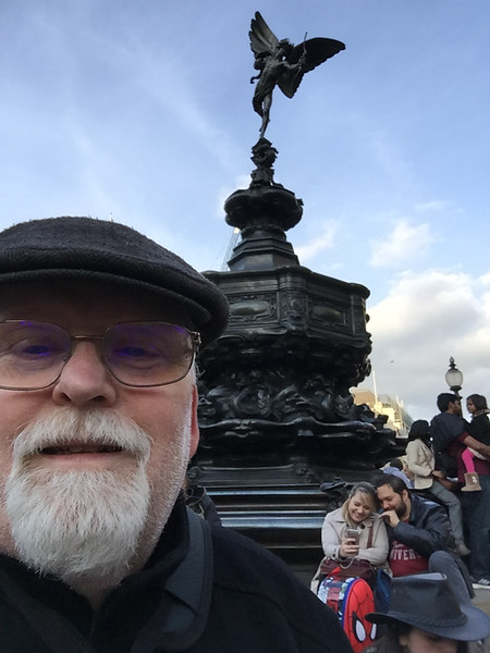 Selfie at Piccadilly Circus