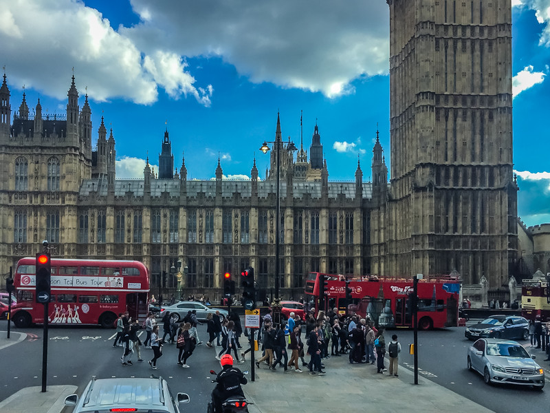 Westminster Palace (the seat of Parliament).