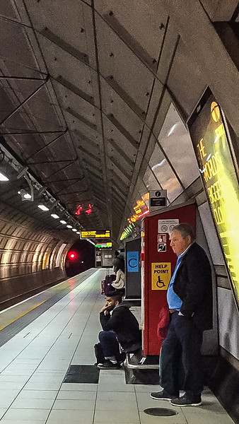 """The first time I waited for a train in the Tube I was unsure where to stand. I noticed a man with a microphone who occasionally announced things so I asked him, """"Where should I stand for the train?"""" He replied, """"Sir, just there would be lovely."""""""