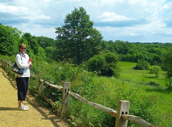 The battlefield, which was here inland rather than on the beach in Hastings. Carmel is standing where the English shield wall held out for a long time against Norman infantry and cavalry. Hurst is a Saxon name, so it's likely Alex's ancestors were slaughtered here by the dozen.