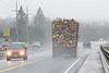 Traffic on Highway 11 seen from the Englehart River bridge.
