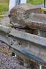 Deteriorating concrete railing on Highway 573