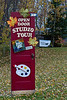 Open Door Studio Tour sign at home of artist
