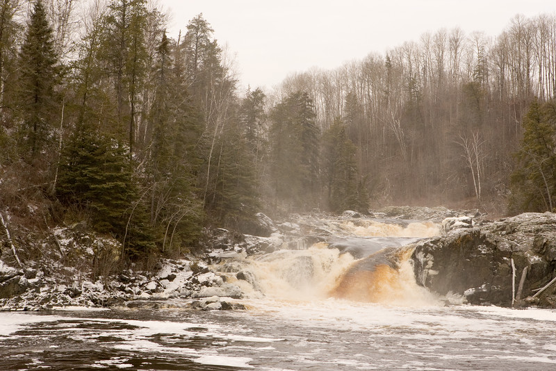Hell's Gate rapids at Kapkigiwan Christmas Day 2006