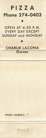 Original Mama Lacona's Restaurant<br /> Charlie Lacona, Owner