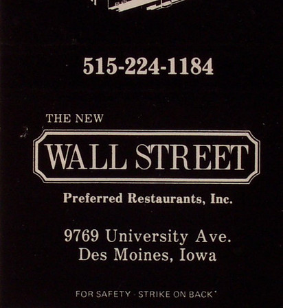 Wall Street Restaurant WDM<br /> Currently Nick's