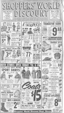 Shopper's World Ad
