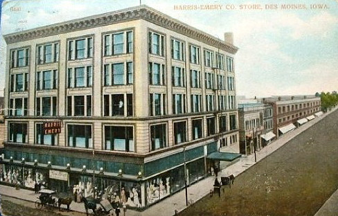 Harris Emery Co Store<br /> 7th & Walnut<br /> Sold to Younker Brothers