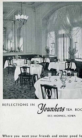 Grand Dining @ the Tea Room<br /> Younkers Department Store<br /> 7th & Walnut