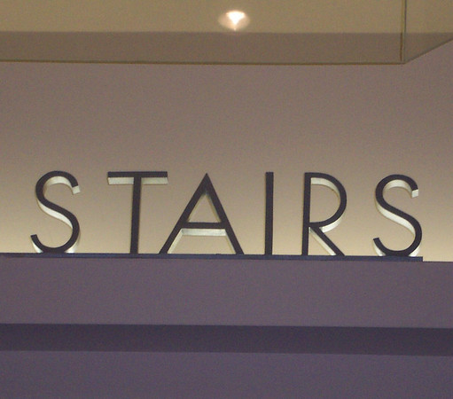 Younkers Electric Stairs Signage