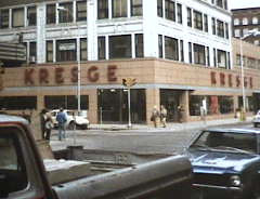 "Kresge Dime Store 7th & Walnut.<br /> Current Location is ""The Hub."""