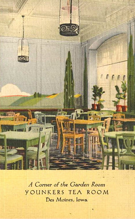 Younkers Tea Room<br /> Fifth Floor<br /> Younkers Department Store<br /> 7th & Walnut