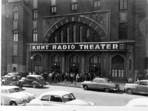 KRNT Radio Theater<br /> 10th and Pleasant Street<br /> 1927 - 1982<br /> Originally the Za-Ga-Zig Shrine Temple