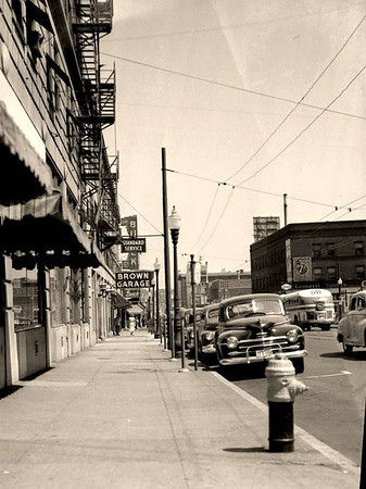 Grand Avenue looking East from 5th Ave c1940s