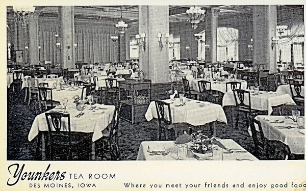Younker's Tea Room Postcard