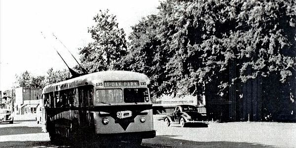 Electric Street Car - Oak Park Route