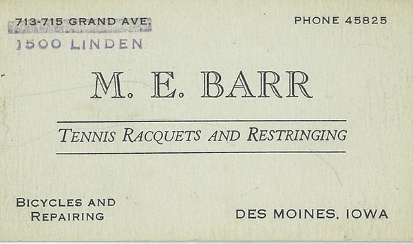 M.E. Barr Business Card