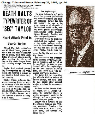Sec Taylor Obituary