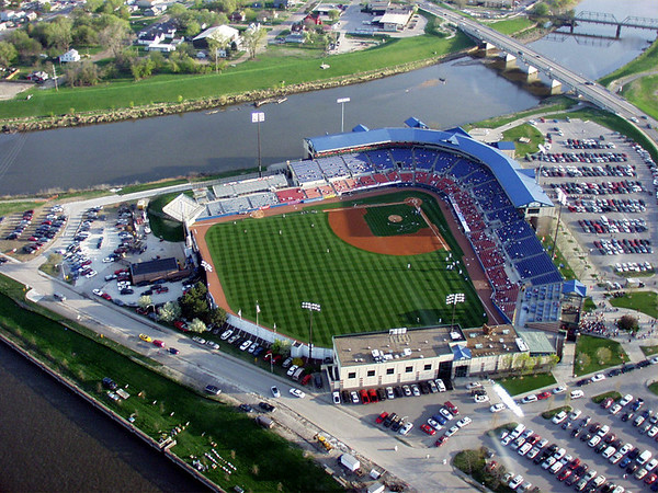 New Sec Taylor Stadium <br /> Home of the Iowa Cubs.<br /> Later named Sec Taylor Field at<br /> Principal Park.