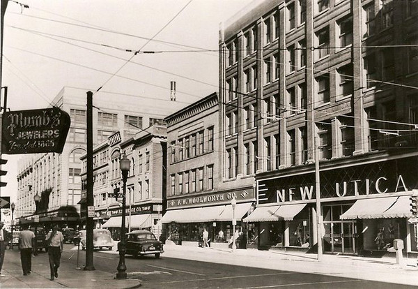 The New Utica Clothing Store 6th & Walnut  c1950