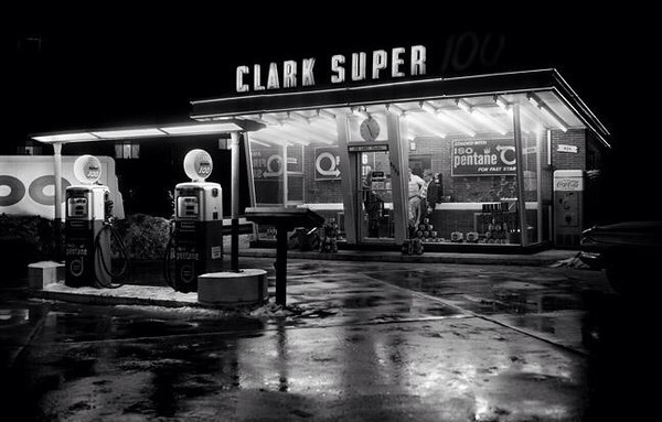 Clark Super Gas Station<br /> East 14th &amp; Douglas