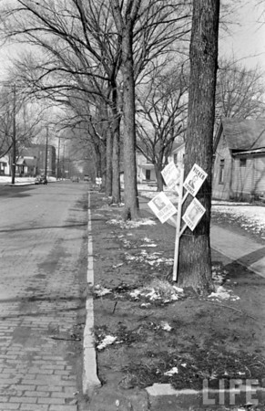 Life Magazine Photo<br /> Political Signs outside Voting Place.