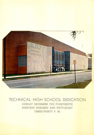 Des Moines Technical High School Dedication<br /> Sunday, December 14, 1958