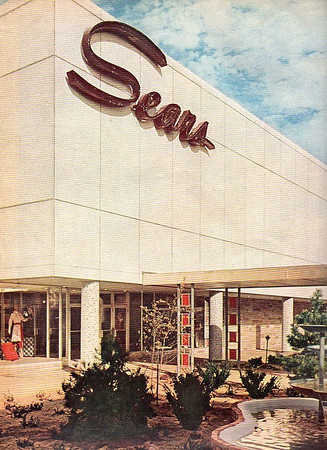 Sears Merle Hay Mall c1960