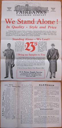 Fairbanks Tailoring Company<br /> RE Patten Supply Service