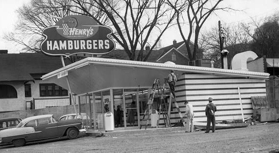 Henry's Hamburgers<br /> 35th & Ingersoll<br /> c1959