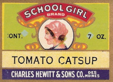 Charles Hewett & Sons School Girl Catsup