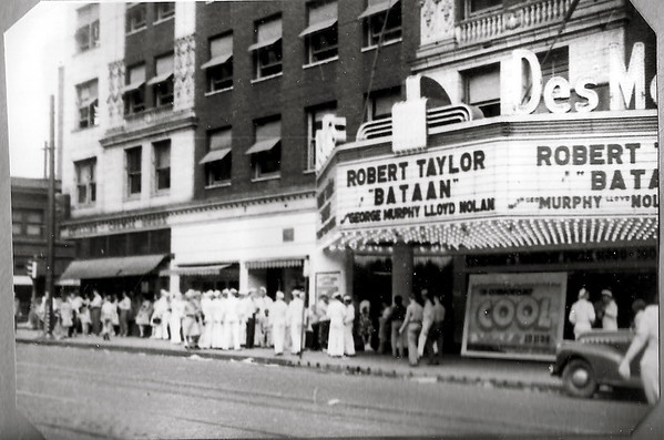 The Des Moines Theater c1943<br /> 6th & Grand Avenue