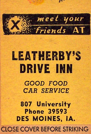 Leatherby's Drive Inn<br /> 807 University