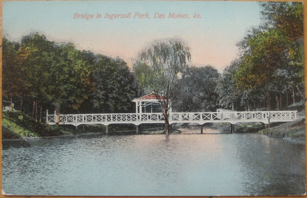 Bridge Over Lake in Ingersoll Park