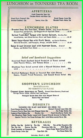 Tea Room Menu