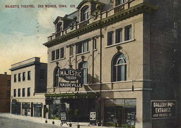 Majestic Theater<br /> 8th Street Downtown<br /> Later the RKO & Galaxy Theaters