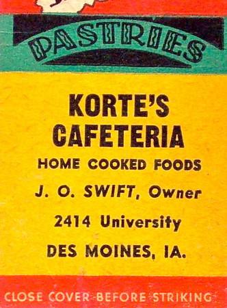 Korte's Cafeteria<br /> 2414 University