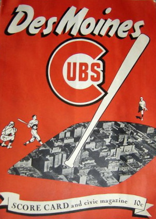 Des Moines Cubs c1947<br /> Later known as the Des Moines Bruins