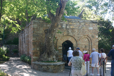 This is the original portion that remains of the house of the Virgin Mary.  She lived in this house for approximately 7 years.