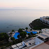 Onyria Claros Hotel on Aegean Coast near Ephesus, Turkey - island of Samos in the distance