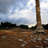 Ancient Ephesus, Turkey - the only column left standing of one of the 7 Wonders of the World - the temple of Artemis / Diana -