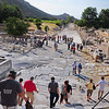 Ancient Ephesus, Turkey - from entrance of main amphitheater, where riot was held against the Apostle Paul - view to the sea, now 4 miles distant