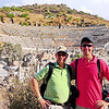 Ancient Ephesus, Turkey - Clay & Bob Burnham at main amphitheater, where riot was held against the Apostle Paul -